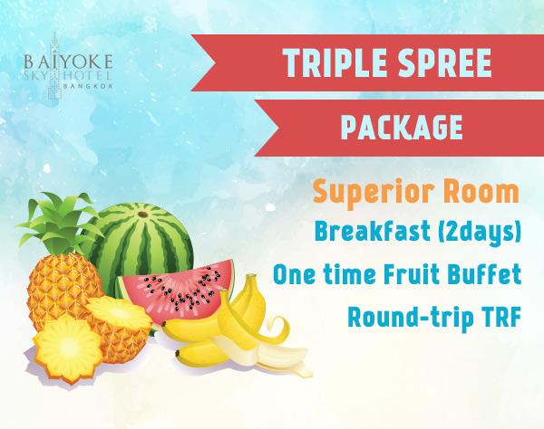 triple spree promotion