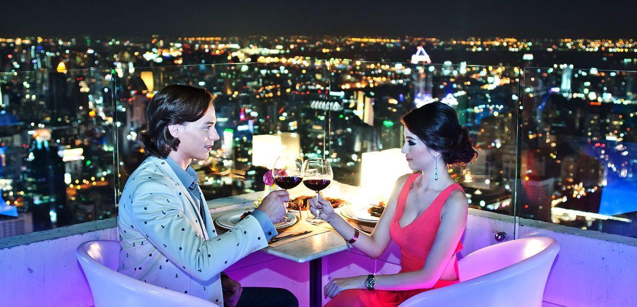 Ресторан в бангкоке на 81 этаже